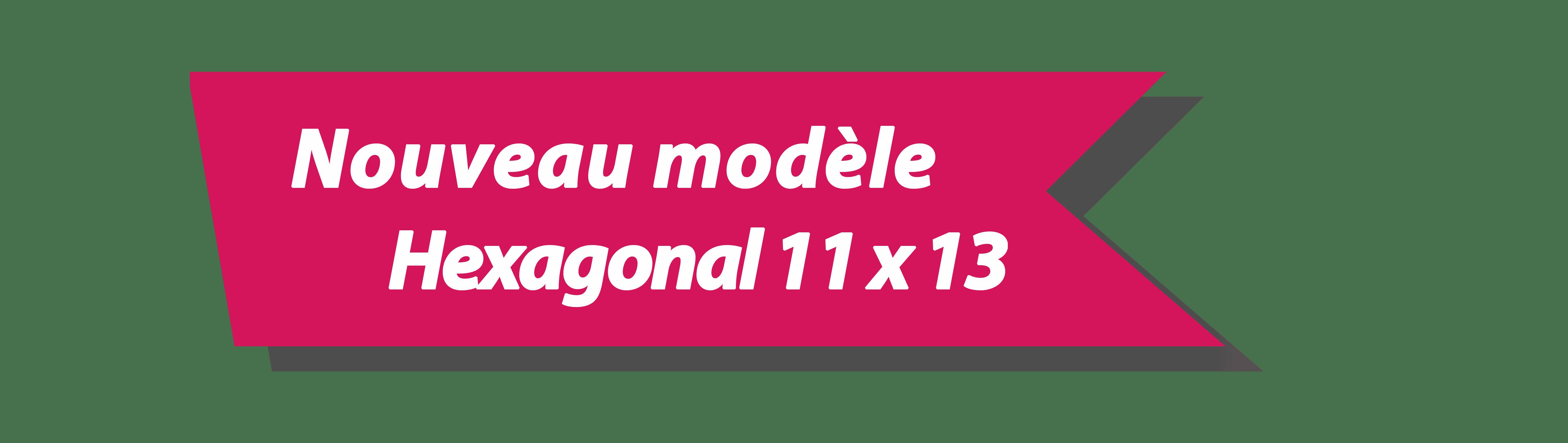 Hexagonal 11x13